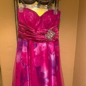 Hot Pink Cocktail/ Party Dress